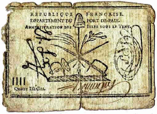Money in 1790 haiti