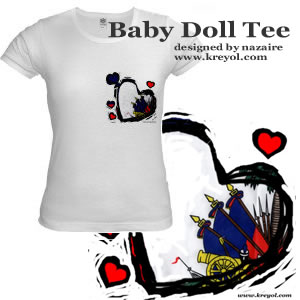 Buy a Haitian Flag Baby Doll Shirt