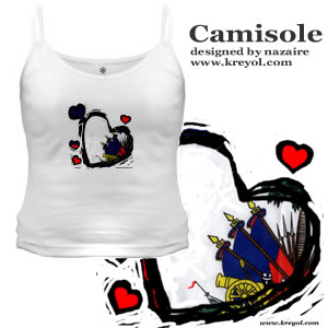 Buy a Haitian Flag Camisole Shirt - by nazaire