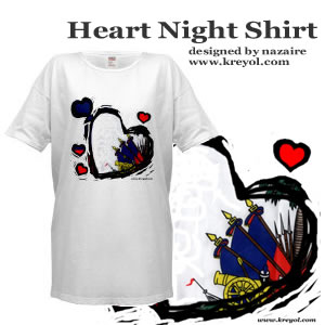 Buy a Haitian Flag Night Shirt