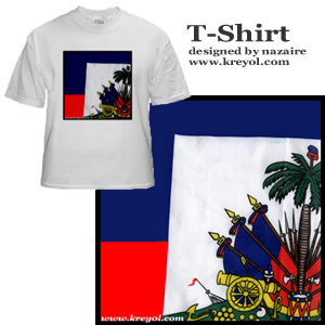 Buy a Haitian Flag White Shirt